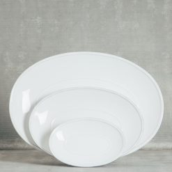 Relish Decor Costa Nova Friso Dinnerware White Oval Serving platters