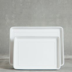 Relish Decor Costa Nova Friso Dinnerware Rectangular Serving Tray White
