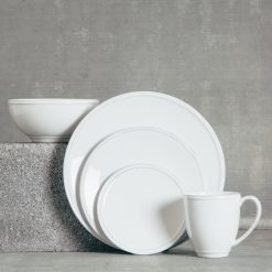 Relish Decor Costa Nova Friso Dinnerware White Dish Sets