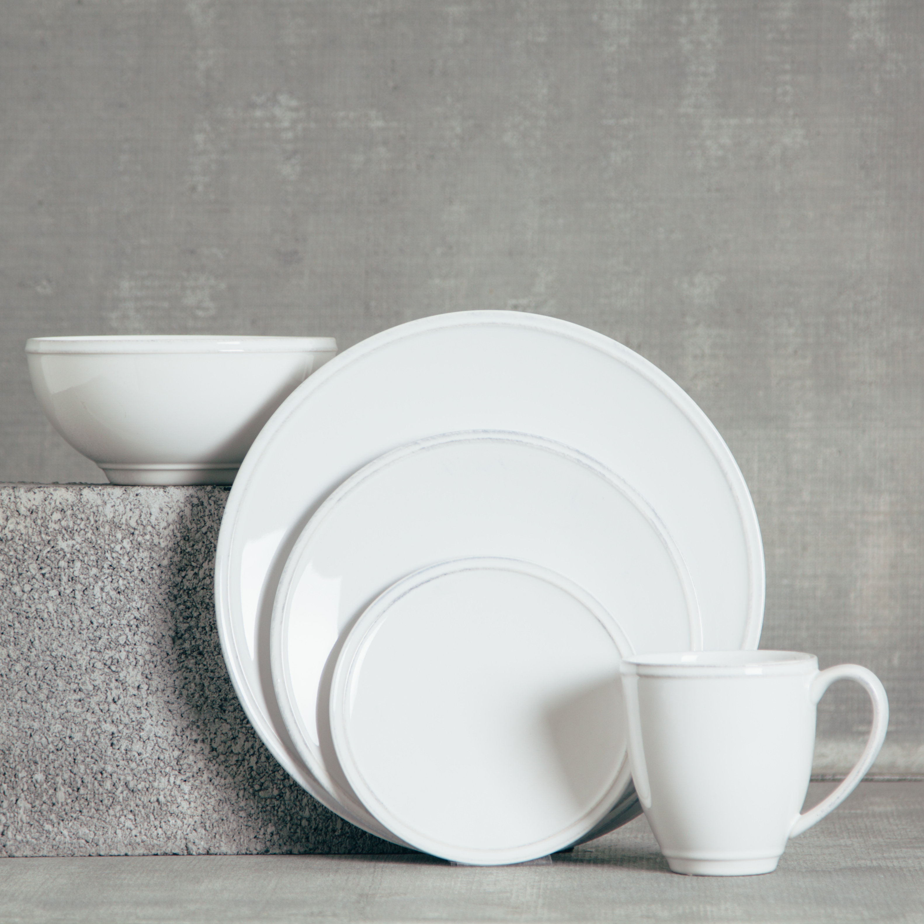 Relish Decor Costa Nova Friso Dinnerware White Dish Sets & Friso White Dinnerware Sets - Relish Decor