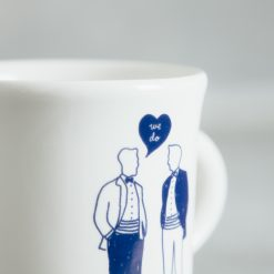 Relish Decor Fishs Eddy men gay wedding we do mug