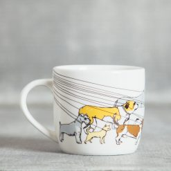 Relish Decor Fishs Eddy dog walker coffee mug