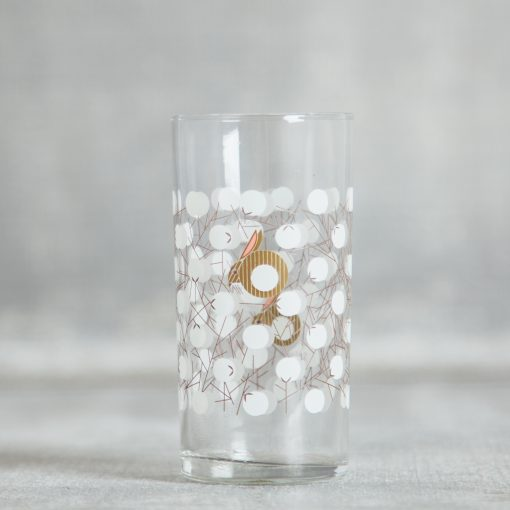 Relish Decor Fishs Eddy rabbit bunny cottontail glass