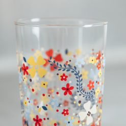 Relish Decor Fishs Eddy howdy juice glass flowers