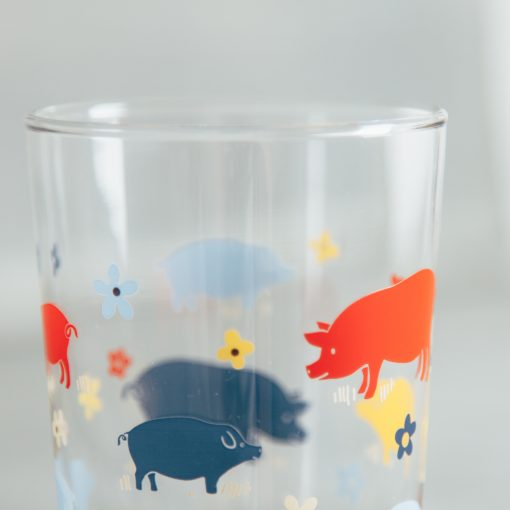 Relish Decor Fishs Eddy howdy juice glass pigs hogs