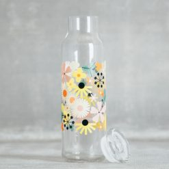 Relish Decor Fishs Eddy oldham and harper pop floral glass water bottle carafe with lid stopper