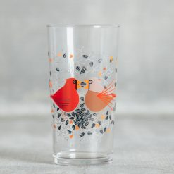 Relish Decor Fishs Eddy Todd Oldham Charlie harper red birds juice glass cardinal courts