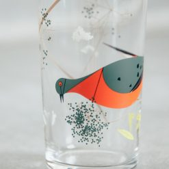 Relish Decor Fishs Eddy Todd Oldham Charley harper red birds juice glass pigeon