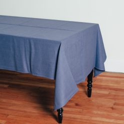 Relish Decor Linomedia Linen Tablecloth Lara French Blue