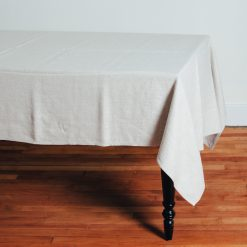 Relish Decor Linomedia Linen Tablecloth Lara Natural