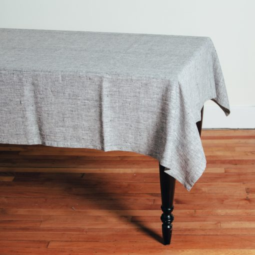 Relish Decor Linomedia Linen Tablecloth black francesca