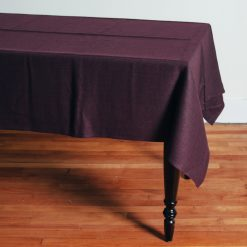 Relish Decor Linomedia Linen Tablecloth Lara aubergine purple