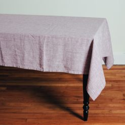 Relish Decor Linomedia Linen Tablecloth purple francesca