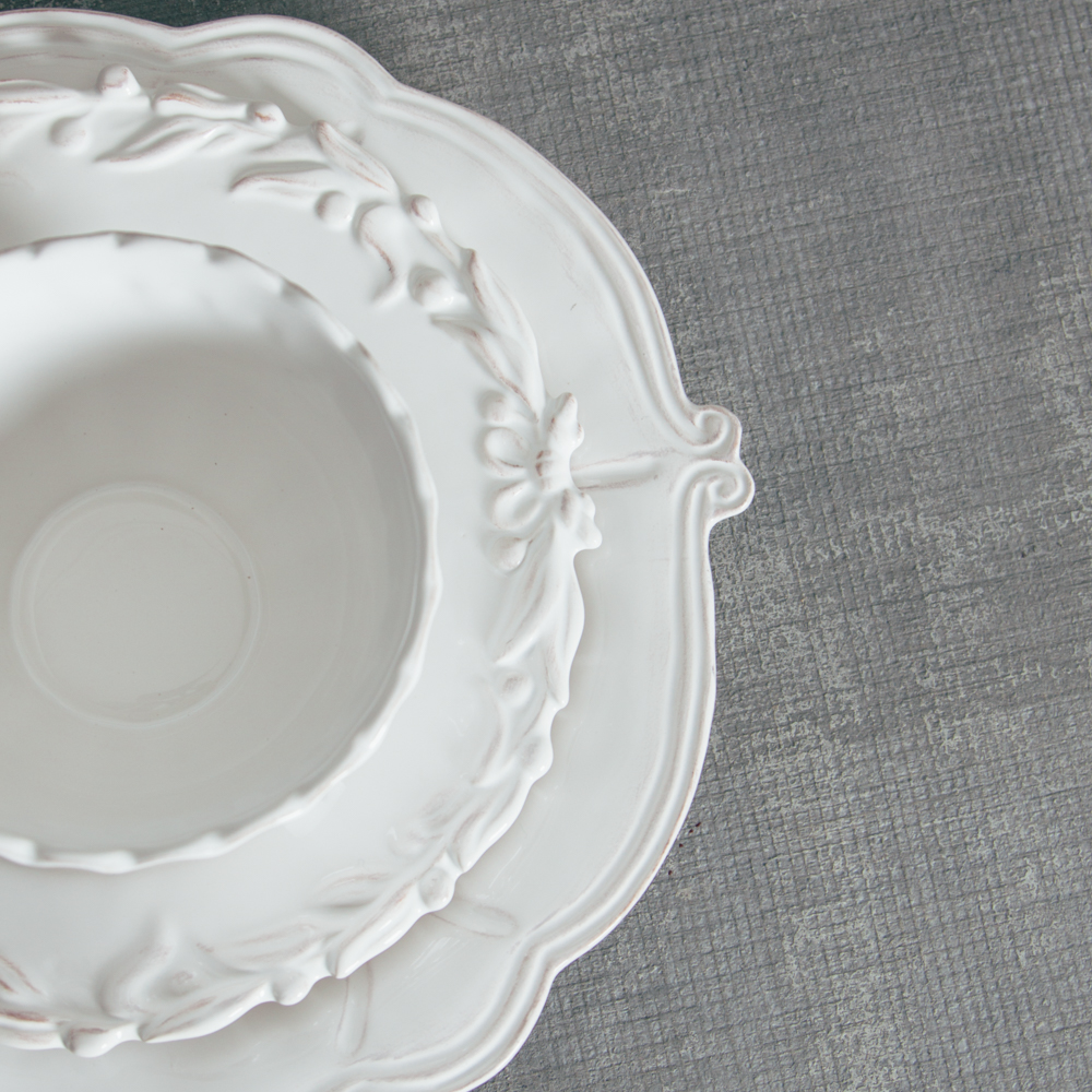Relish Decor Whites Mix Bristol Milano Dinnerware Collections