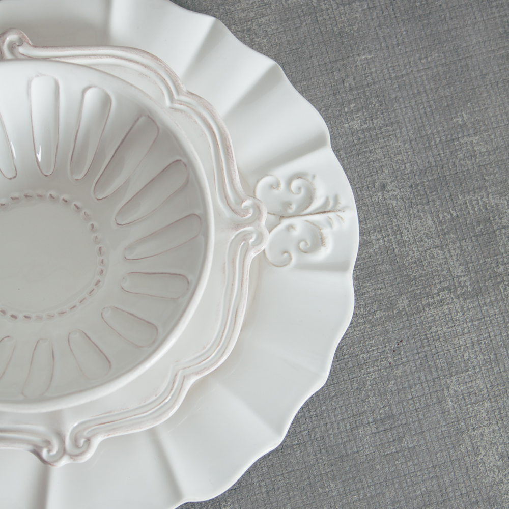Relish Decor Whites Mix Milano Verona Dinnerware Collections