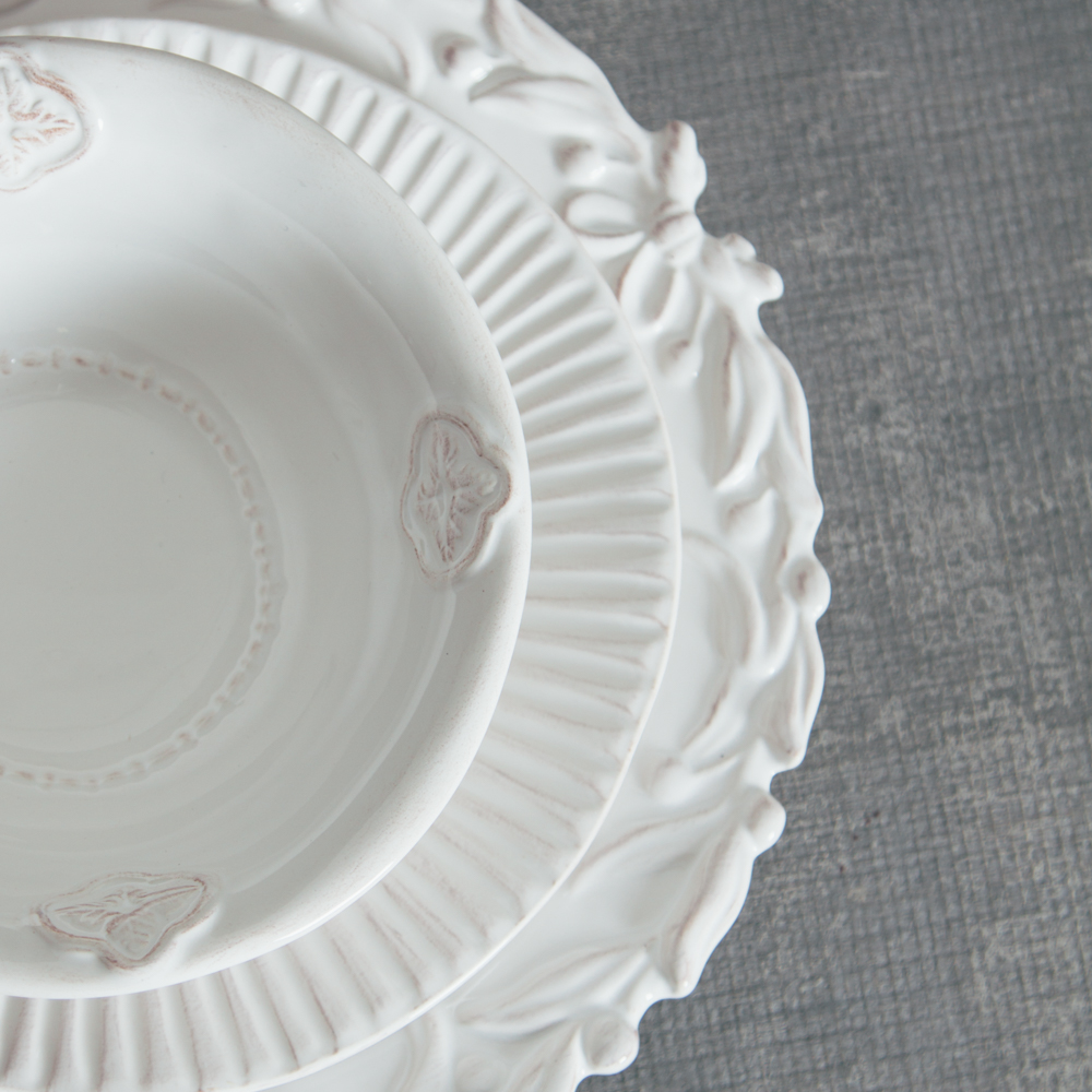 Relish Decor Whites Mix Palermo Bristol Dinnerware Collections