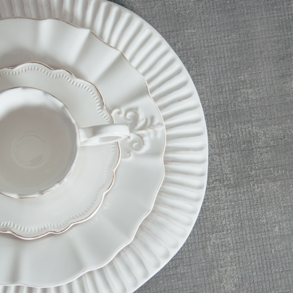 Relish Decor Whites Mix Palermo Verona Dinnerware Collections