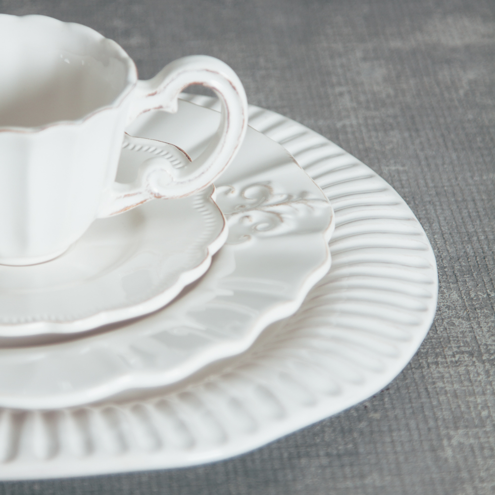 Relish Decor Whites Mix Palermo Verona Milano Dinnerware Collections