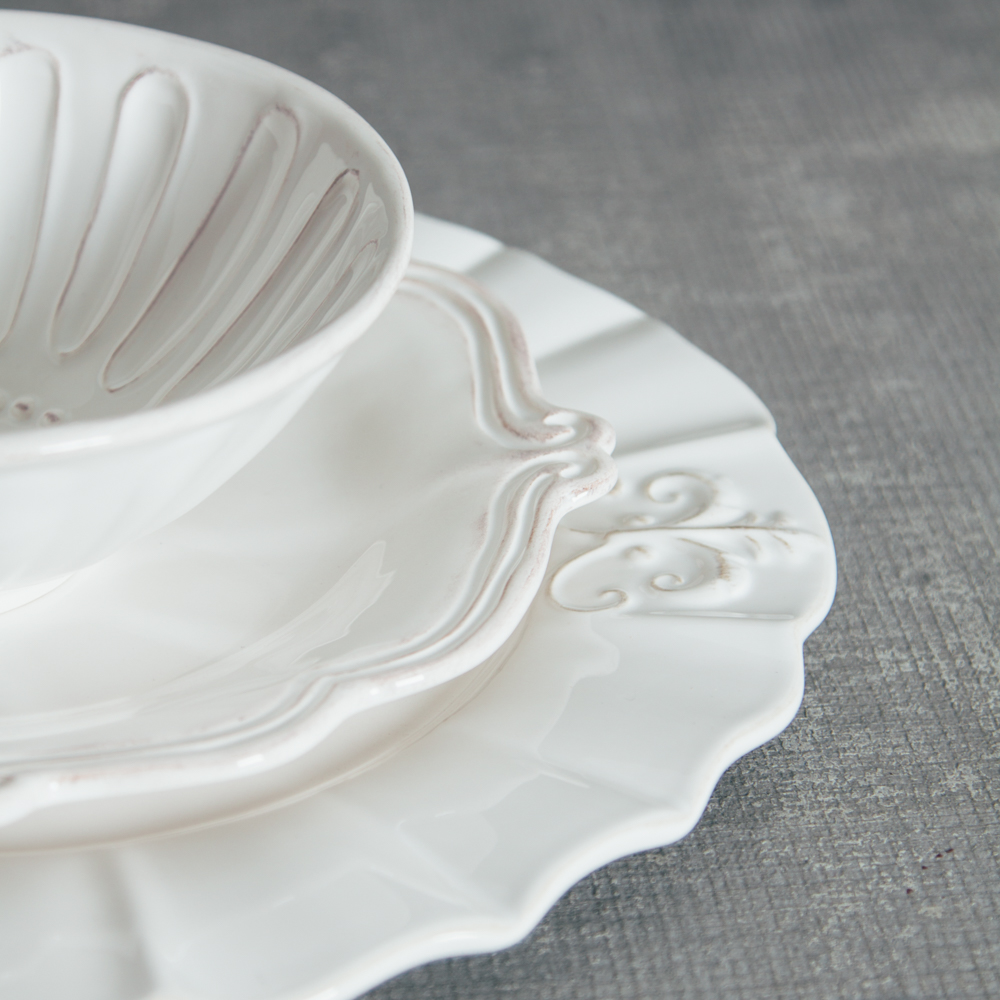 Relish Decor Whites Mix Verona Milano Dinnerware Collections