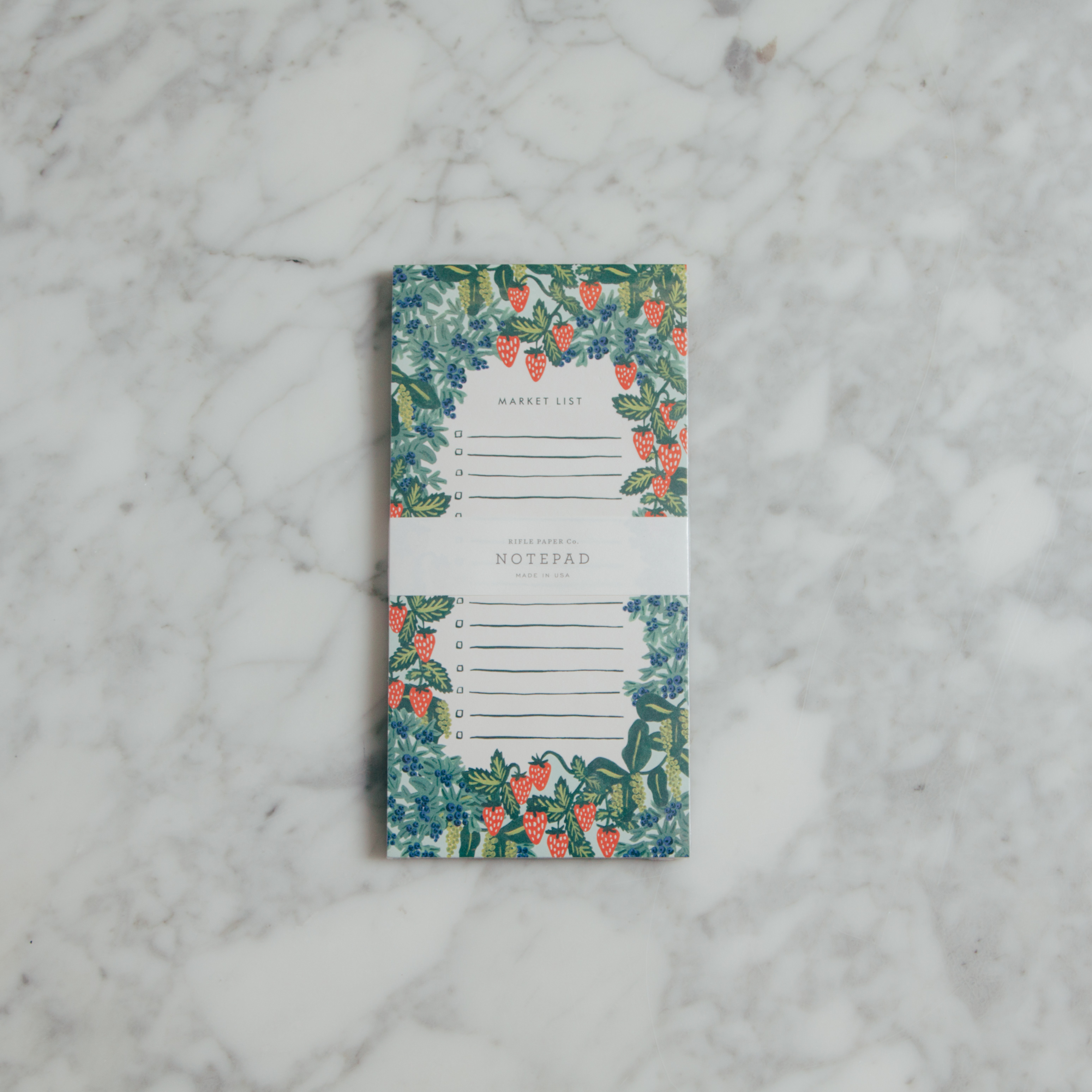 Relish Decor Rifle Paper Co Strawberry Fields Market Notepad
