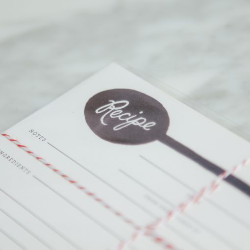 Relish Decor Rifle Paper Co Recipe Cards Charcoal Spoon