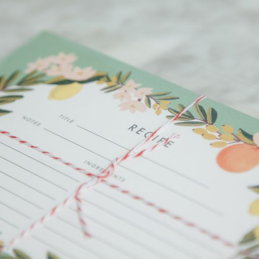 Relish Decor Rifle Paper Co Recipe Cards Citrus Floral