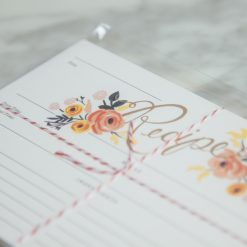 Relish Decor Rifle Paper Co Recipe Cards Peony