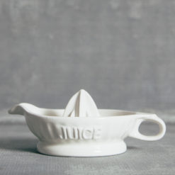 Retro Handled Juicer White Ceramic Relish Decor