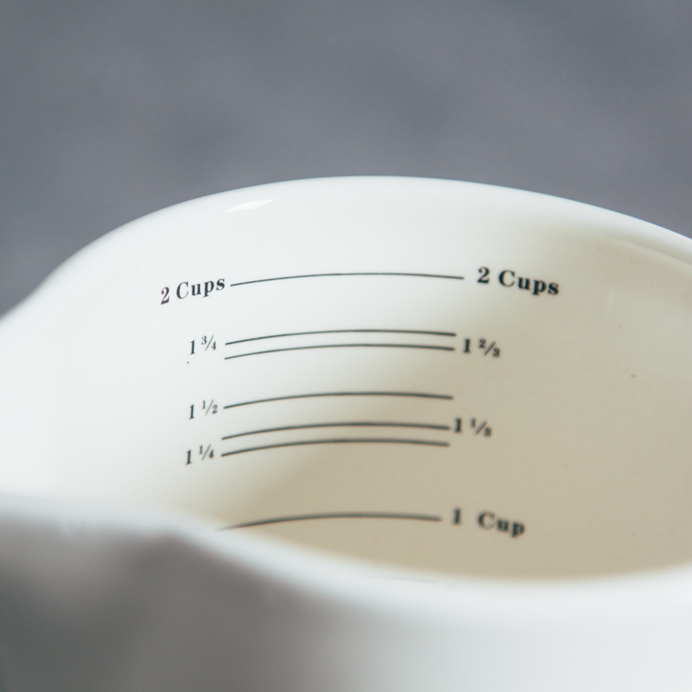 Retro Measuring Cup Blue White Relish Decor