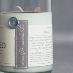 Rewined Rose Wine Candle Relish Decor