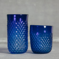 Ripple Cobalt Glassware Cobalt Blue Glasses Tumbler and Double Old Fashioned Relish Decor
