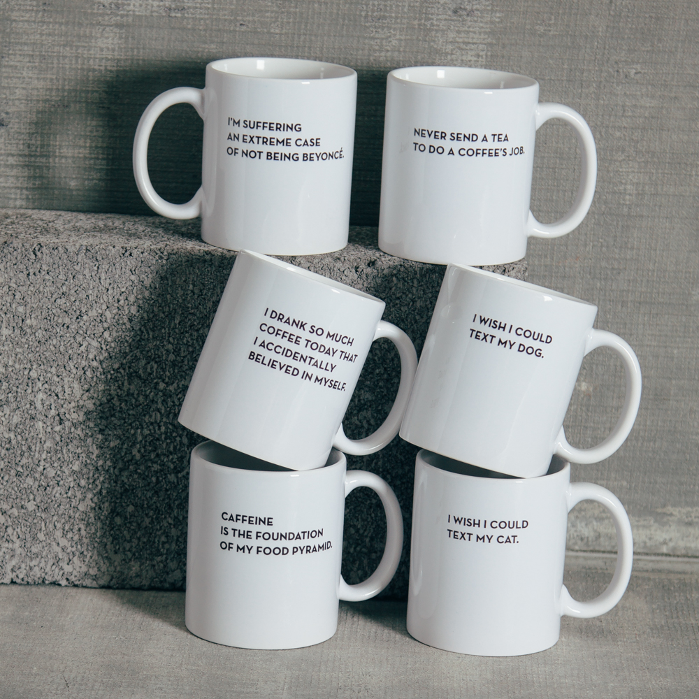 Sapling Press Real Talk Mugs Relish Decor