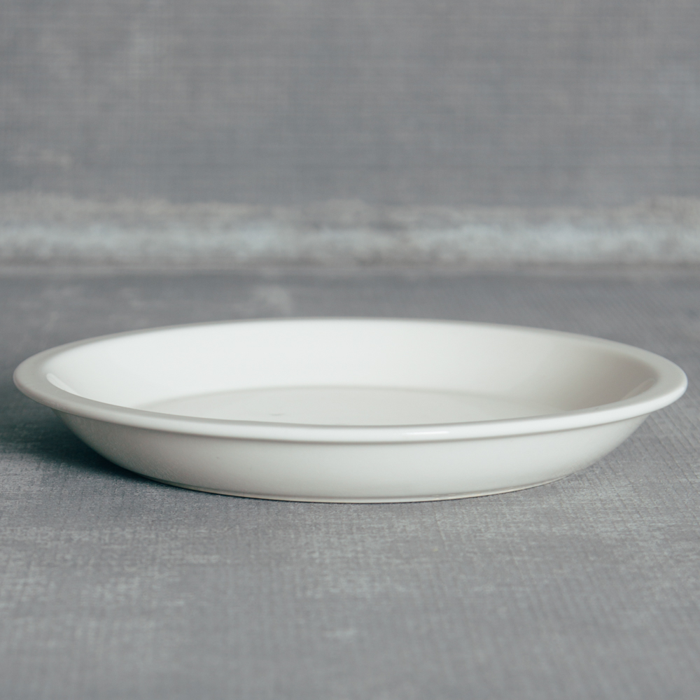 Shallow Pie Pan Farmhouse White Relish Decor