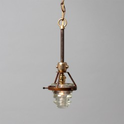 Single Telegraph Pendant Clear Industrial Lighting Insulator