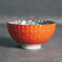 Sirocco Embossed Bowl Orange Relish Decor