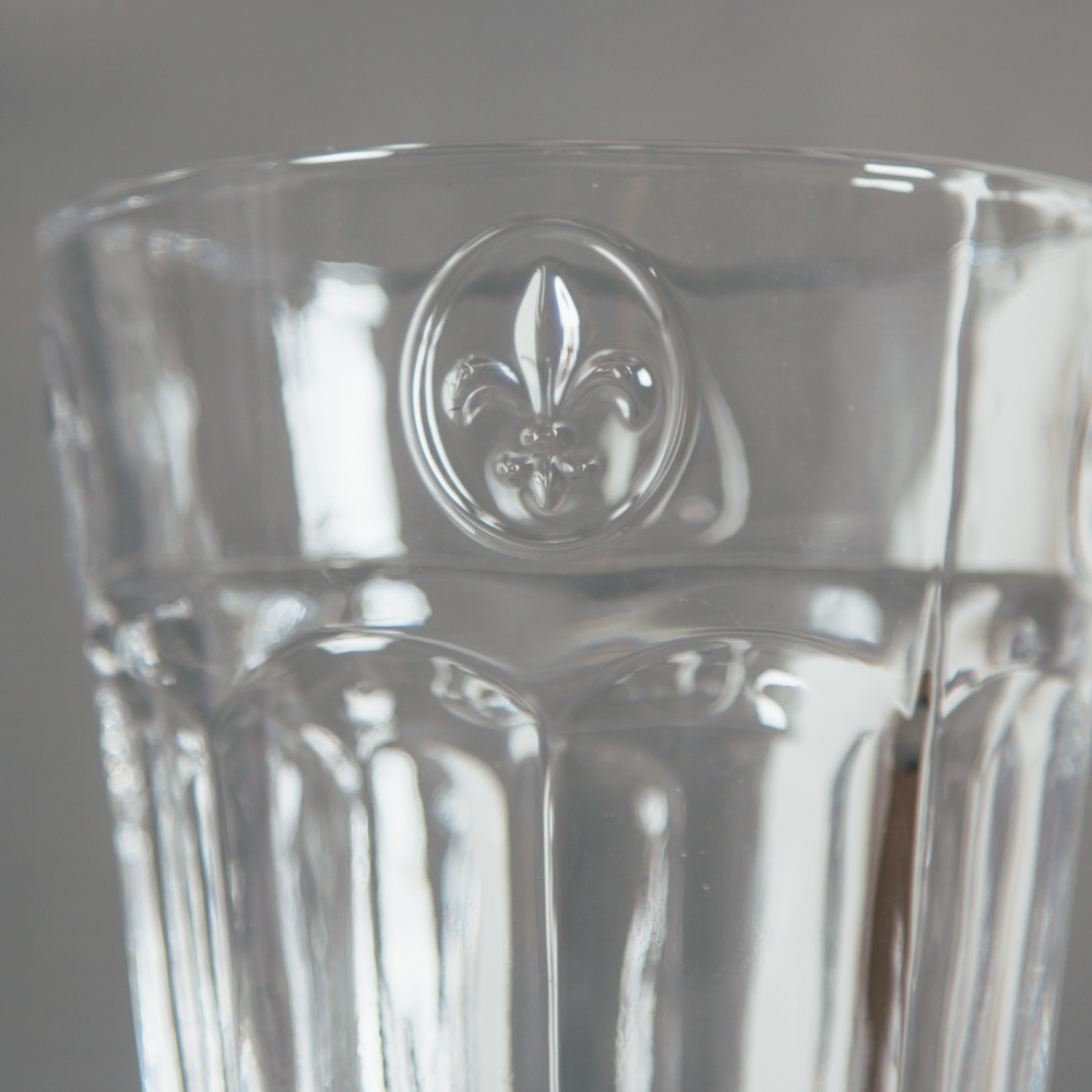 Soda Lime Glassware Collection Fleur De Lis Relish Decor