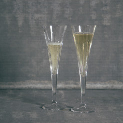 Soho Crystal Toasting Flute Pair Relish Decor