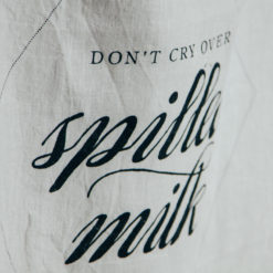 Spilled Milk Don't Cry Pure Linen Towel Sir Madam Relish Decor