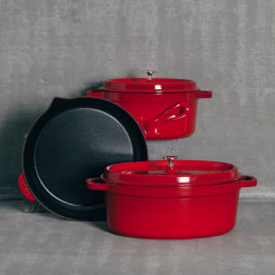 Staub Cherry Red Cast Iron Cookware Collection Relish Decor