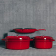 Staub Cherry Red Cast Iron French Cookware Collection Relish Decor