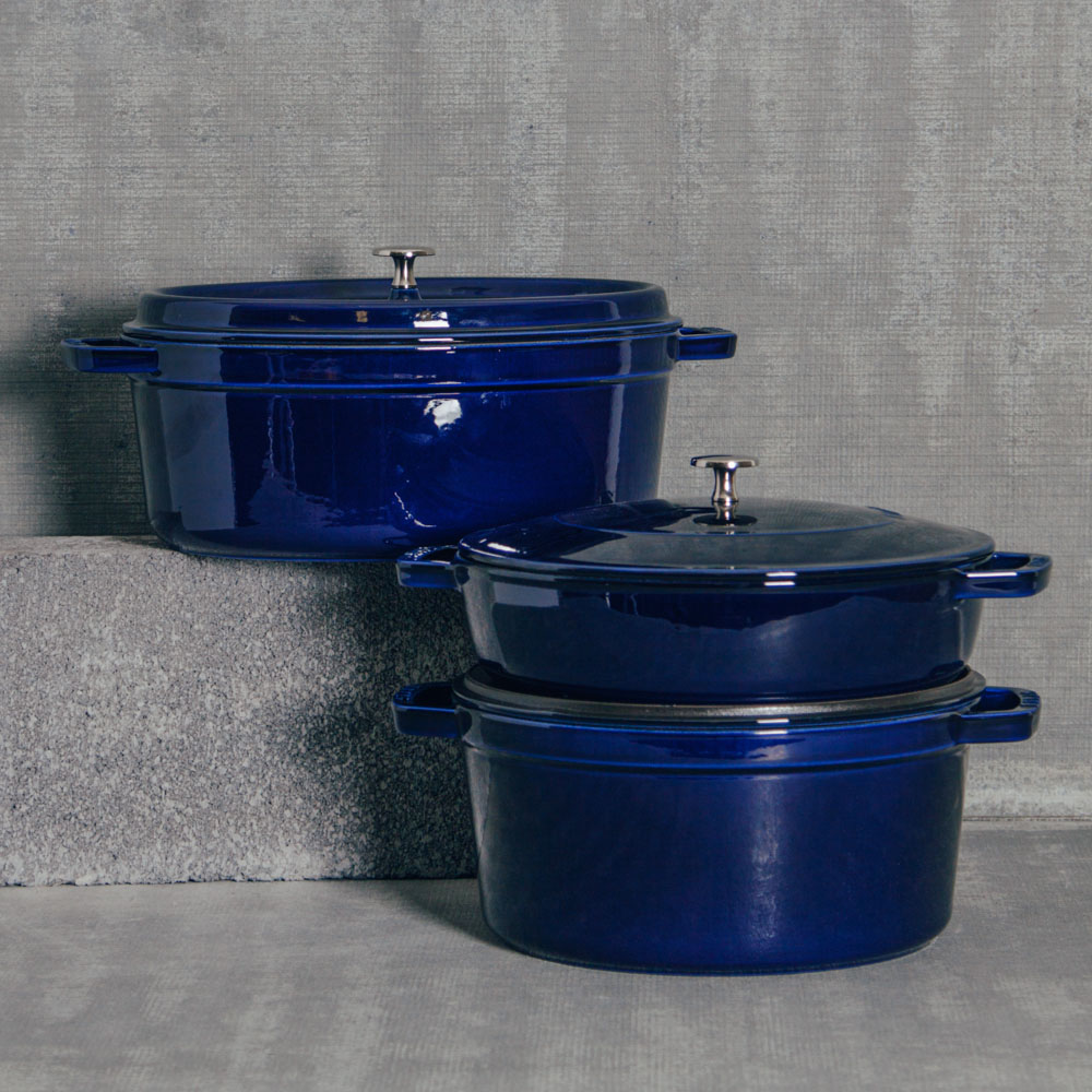 staub dark blue cookware cast iron collection relish decor - Staub Dutch Oven