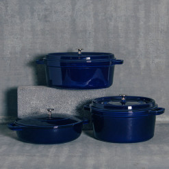 Staub Dark Blue Cookware Collection Relish Decor