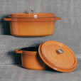 Staub Saffron Yellow Cast Iron Collection Relish Decor