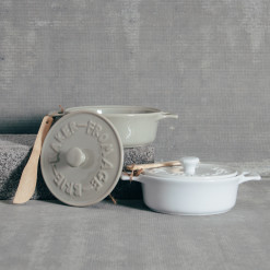 Stoneware Brie Baker Relish Decor