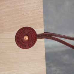 Sycamore Board by the Foot Handmade Cutting Serving Board Leather Handle Copper Rivet Relish Decor
