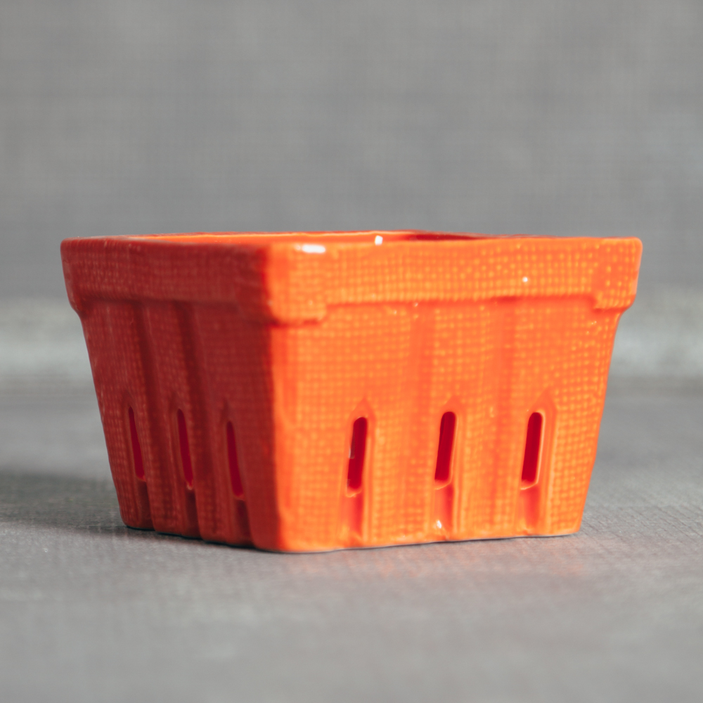 Tara Textured Small Berry Basket Orange Relish Decor