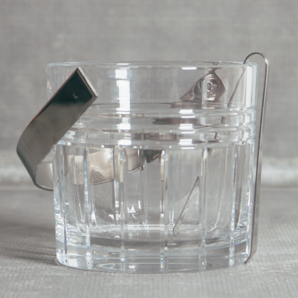 Tempo Crystal Ice Bucket with Tongs Relish Decor