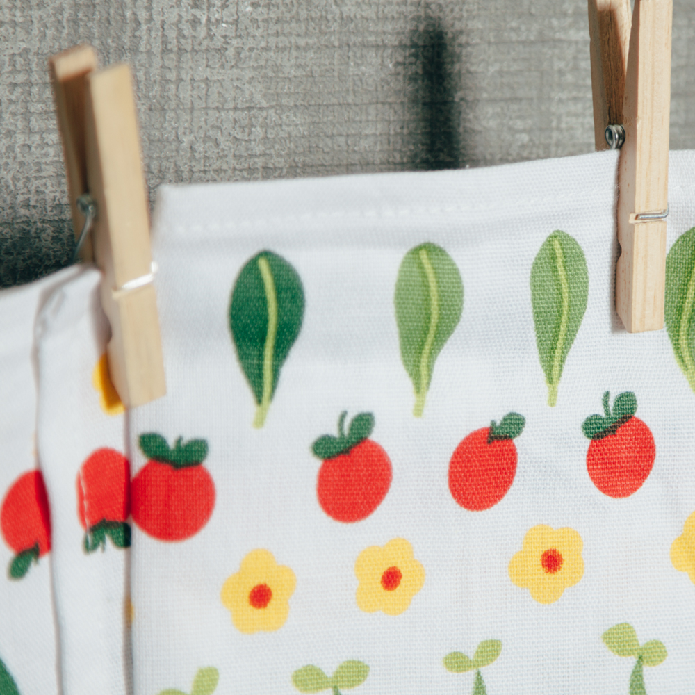 Vegetable Patch Summer Tea Towel