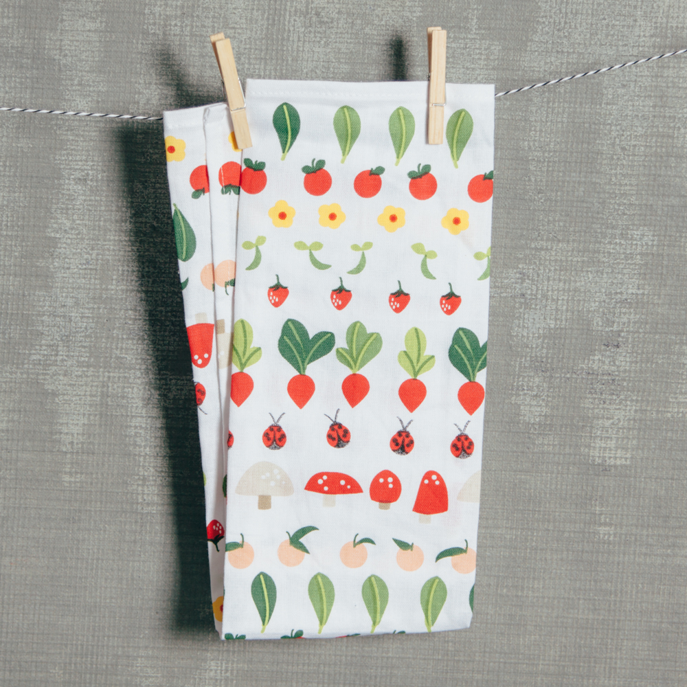 Vegetable Patch Tea Towel Relish Decor