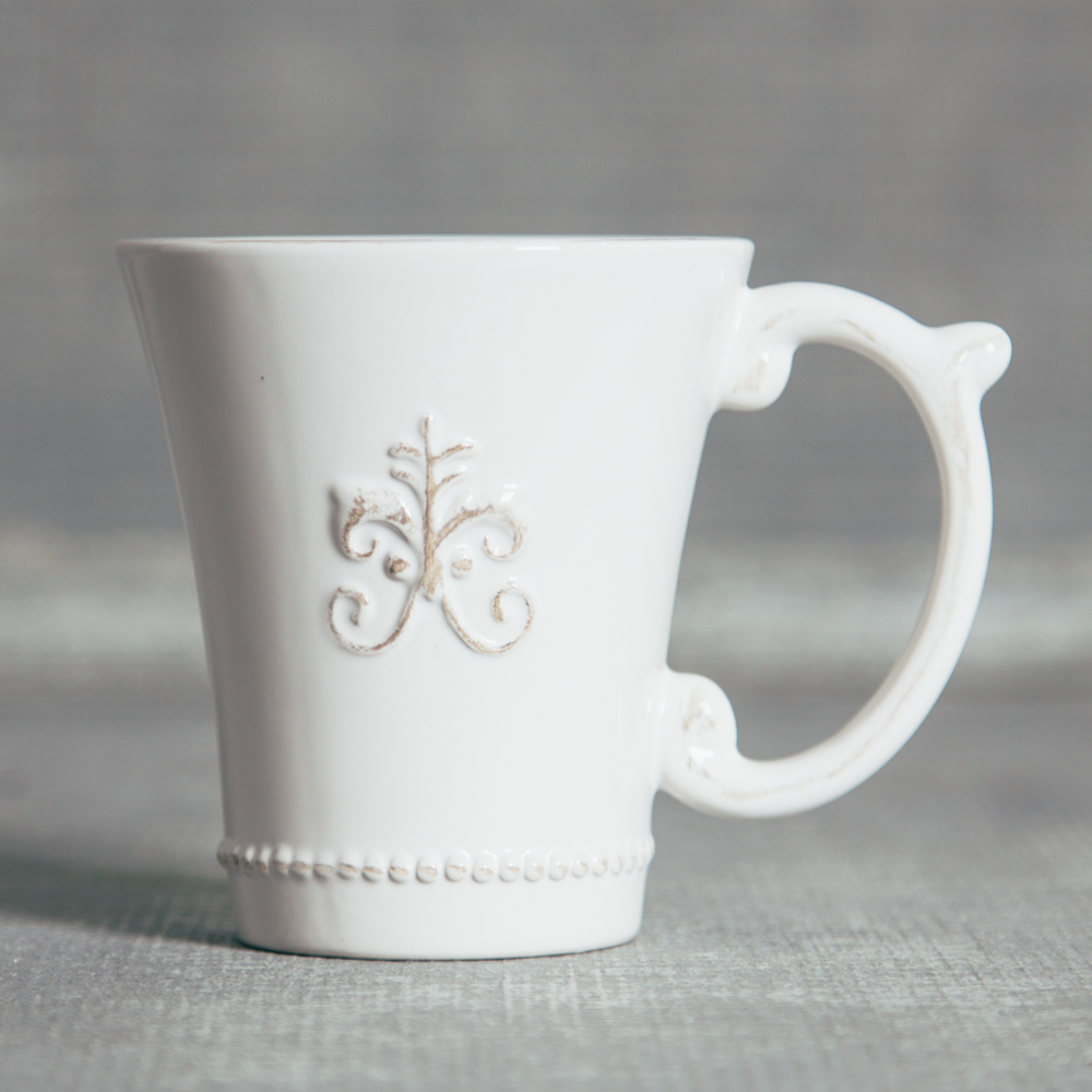 Verona Fleur De Lis Dinnerware Collection Coffee Mug Relish Decor